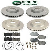 For Land Rover Range Rover Front And Rear Disc Brake Rotors Pads And Sensors Kit