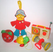 Vintage Fisher Price Baby And Toddler Toys Bundled Lot