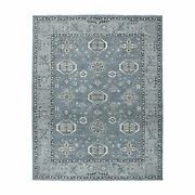 8and0391x9and03910 Gray Pure Wool Hand-knotted Peshawar Tribal Oriental Rug R51152