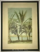 1920and039s Hand Colored Photograph Of A Scene In Pearl City Hawaii