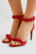 1400 Azzedine Alaia Bombe Studded Red Suede Sandals Heels It 37 Sold Out