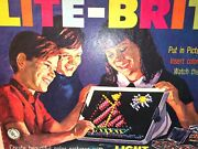 Vintage 1967 Lite Brite W Box Lots Of Patrerns And Blank Pages Instructions