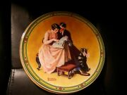 Pre Owned Norman Rockwell Plate Edwin Knowles/ A Couples Commitment/ Plate T885i