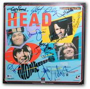 Head Cast Signed Autographed Laserdisc Cover Monkees Nicholson Beckett A61654