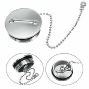 Boat Deck Fill Filler Replacement Cap + Chain Stainless Steel Fuel Water Gas