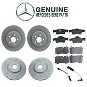 For Mercedes W221 W216 Front And Rear Disc Brake Rotors Pads And Sensors Genuine Kit