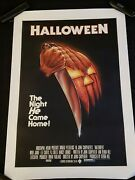 Halloween One Sheet Movie Poster Linen Backed