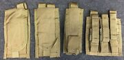 Lot Of Paraclete 5.56 And Pistol Mag Magazine Pouch Flashlight Pouch Tan L4c