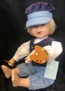 """""""hans"""" Limited Edition Porcelain Doll By Edwin M. Knowles China Company, New"""