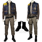 Rogue One Story Cassian Andor Cosplay Costume Adult Halloween Costume Suit