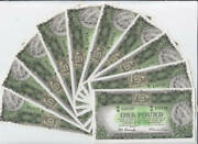 1953 One Pound Consecutive Run Of 10 Coombs/wilson Commonwealth Bank R33 Uncircu