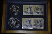 Canada 2004 St Croix 400th Anniversary French Settlement 2 Silver Coins Stamps