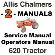 Allis Chalmers 620 Tractor Factory Service And Operators Manual -2- Manuals Cd