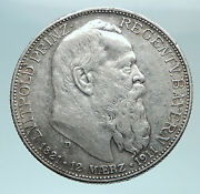 1911 D Germany Bavaria Otto I Luitpold Antique Silver 2 Marks Coin I79380
