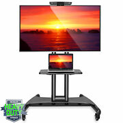 Tv Stand Mobile Cart With Wheels For Flat Screen Led Plasma - Fits 40 - 65