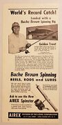 1949 Print Ad Bache Brown Fishing Rods,reels And Lures Airex Lionel Long Island,ny