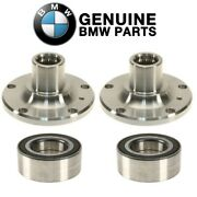 For Bmw E83 X3 04-10 Front Wheel Hubs Drive Flange And Wheel Bearings Kit Genuine