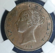 Great Britain 1/2d Half Penny 1859 Ms63 Bn Ngc Km726 Victoria 1/2p Beauty