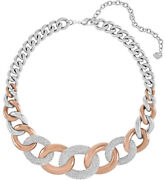 Bound Steel Rose Gold Crystal Pavandeacute Chain Necklace For Women 5089276