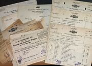 Vintage 1918-1920 Chevrolet Invoices - Parts Tires Freight Supplies Chevy Car
