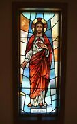 + Stained Glass Church Window + Sacred Heart Of Jesus + 57 Of 58 Chalice Co
