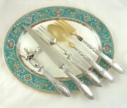 Antique French Sterling Silver Serving Carving Set Five Pieces