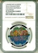 2016 Canada S20 Landscape Illusion Monarch Butterfly Ngc Pf70 Uc Box And Coaand Ogp