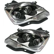 Headlight Set For 2008-2012 Gmc Acadia Left And Right With Bulb Capa 2pc