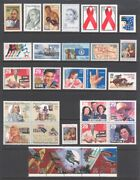 1993 U.s. Commemorative Year Set 90 Stamps Incl Wwii Sheet And Airmail Mint-nh