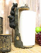 Rustic Woodland Climbing Bears With Honeycomb Bees Paper Towel Holder Dispenser