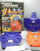Vintage 1985 Hg Toys Transformers Decepto-pack Decepticon Costume Backpack Rare