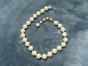 Vintage Costume Jewelry, Single Strand Faux Pearl Necklace, Choker Nk215
