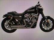 Black 2-2 Sportster Drag Pipes Khrome Werks Eclipse 883 1200 2014 Exhaust