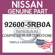 Genuine Nissan Oem 92600-5rb0a Compressor-air Conditione 926005rb0a