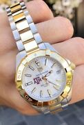 Tag Heuer Lady Aquaracer New White Mother Of Pearl 32 Gold Steel Wbd1320.bb0320