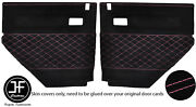 Pink S Diamond Stitch 2x Rear Door Card Covers Fits Land Rover Defender 90 110