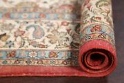 Antique All-over Floral Ivory Oushak Turkish Area Rug Hand-made Living Room 7x11