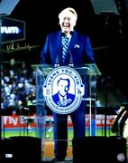 Vin Scully Signed Autographed 16x20 Photo Thank You Vin La Dodgers /30 Mlb Coa