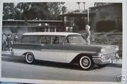 12x18 Black And White Picture 1958 Chevrolet Brookwood Station Wagon Bird Rock Ele