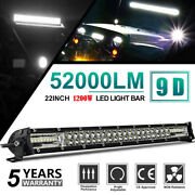 20inch 1200w Led Light Bar Dual Row Spot Flood Combo Work Ute Truck Suv Atv 22and039and039