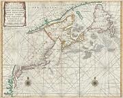 1750 Mount And Page Map Of Chesapeake Bay New York New England And Canada