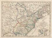 1818 Franz Pluth Map Of The Eastern United States