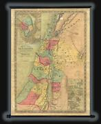 1854 Colton Map Of Israel Palestine Or The Holy Land