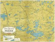 1941 Fisher Map Of The Border Lakes Vermilion, Trout Lake Minnesota