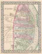 1870 Mitchell City Map Or Plan Of St. Louis, Missouri