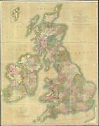 1833 Cary Large-format Case Map Of The British Isles