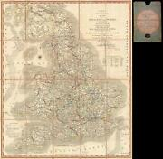 1815 John Cary Folding Case Map Of England And Wales
