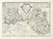 1776 De L'isle / Santini Map Of North America And The Arctic Sea Of The West