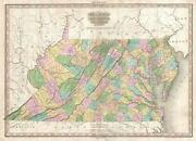 1825 Tanner Map Of Virginia West Virginia Mayland And Delaware