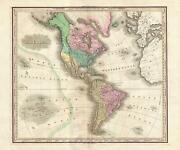 1825 Tanner Map Of North And South America